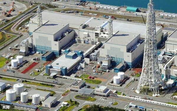 新潟県の東京電力柏崎刈羽原発6号機と7号機=共同