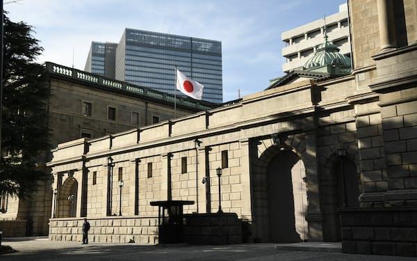 日銀は気候変動対応で金融機関に資金を供給する新制度を年内に始める(日銀本店)