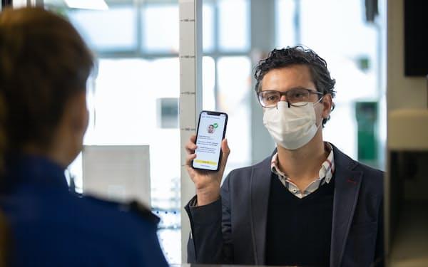 シンガポールのワクチン証明書(IATA提供)