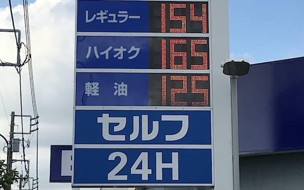 ガソリン価格は上昇している