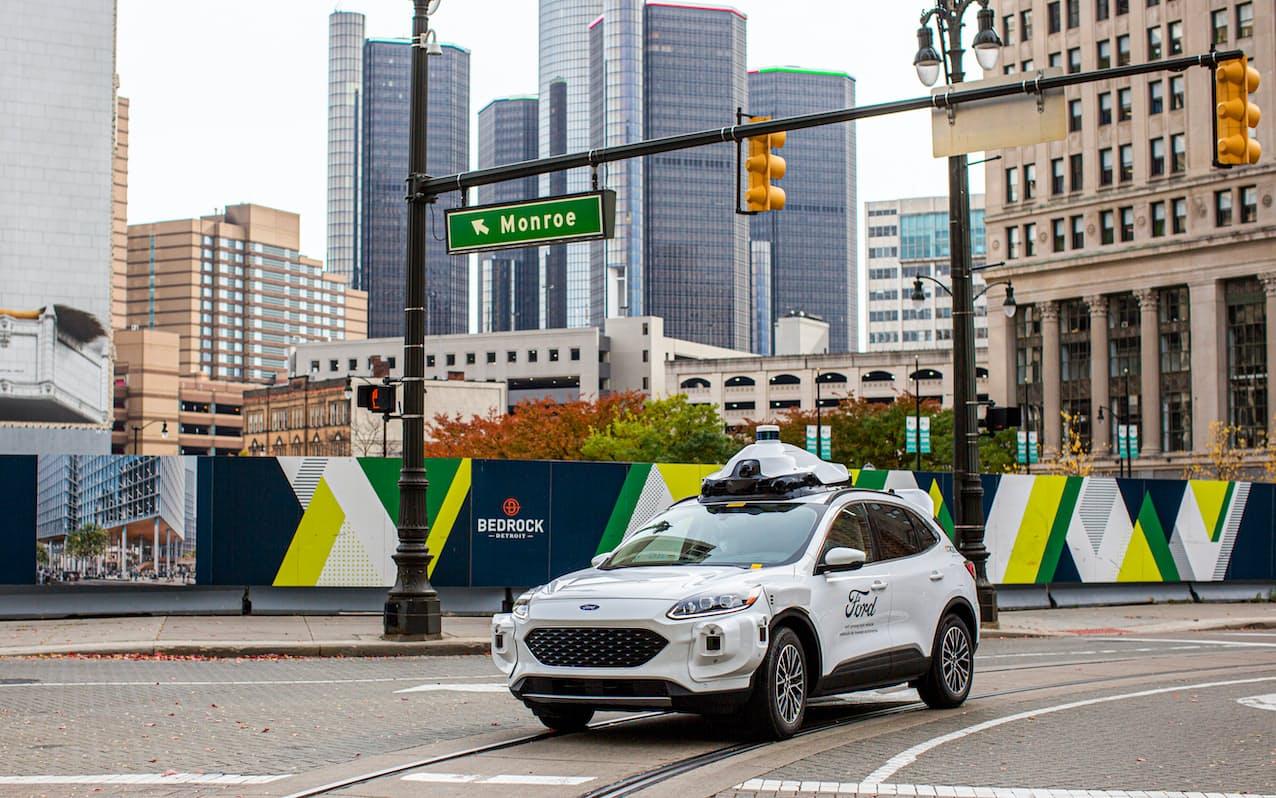 フォードとアルゴAIが開発した自動運転車=フォード提供