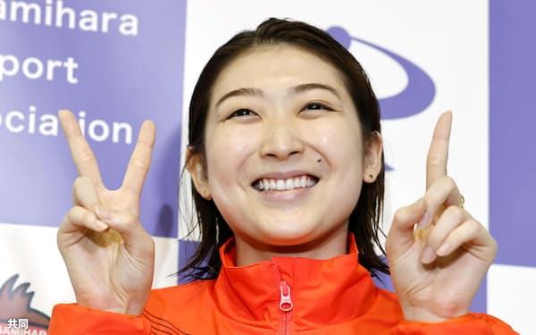 21歳の誕生日を迎えた7月4日はリレーで日本新、弾みをつけて五輪を迎える=共同