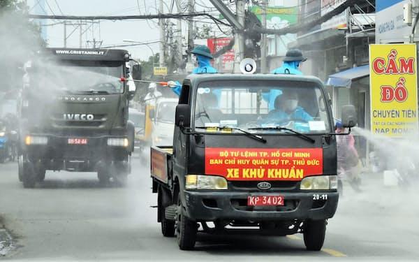 ベトナムはコロナに対する厳しい防疫を続けている(南部、ホーチミン市)=国営ベトナム通信