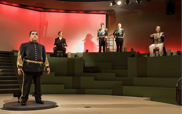 ドラマ「維新への道」の一場面。体感ホールでは「薩摩スチューデント、西へ」も上演=鹿児島市維新ふるさと館提供
