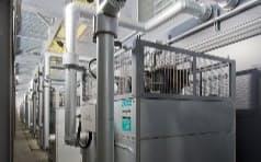 鹿島がデータセンターに新たに導入した空調システムの室外機