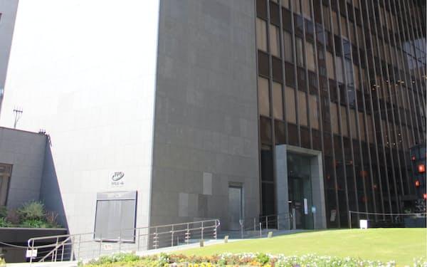 FFGベンチャービジネスパートナーズが入る、福岡銀行本店ビル(福岡市)