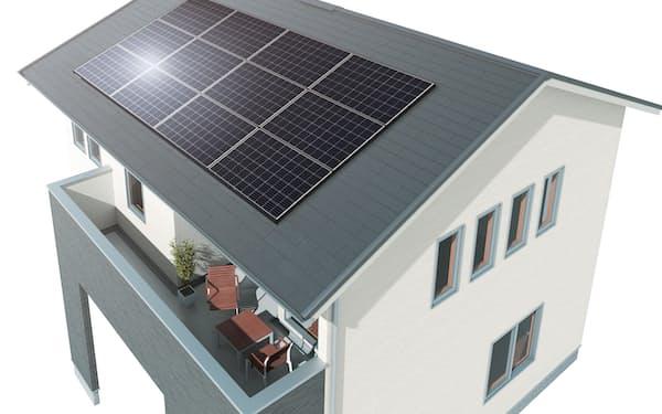 新築の場合、太陽光パネルを初期費用なしで導入できる(イメージ図)