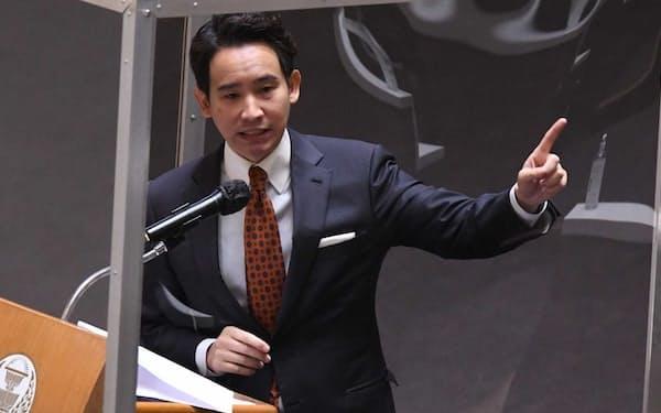 タイの前進党(MFP)を率いるピタ・リムジャラーンラット氏(同党提供)