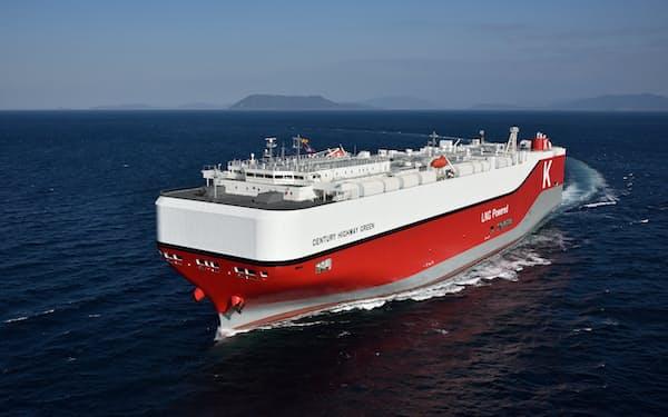 川崎汽船は国内初の「移行ローン」で調達した資金をLNG燃料船に充てた