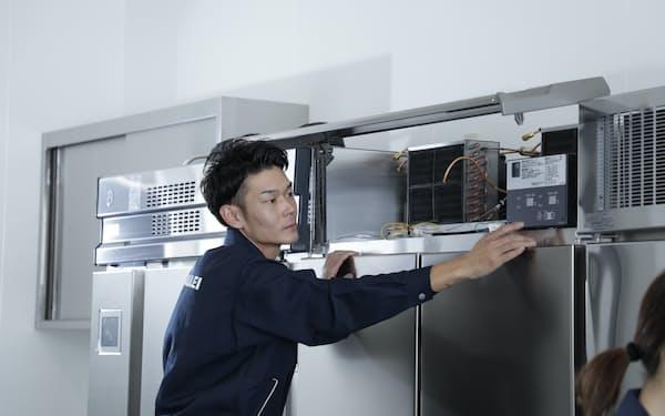 業務用冷蔵庫などの稼働データを保守サービスに活用しやすくする