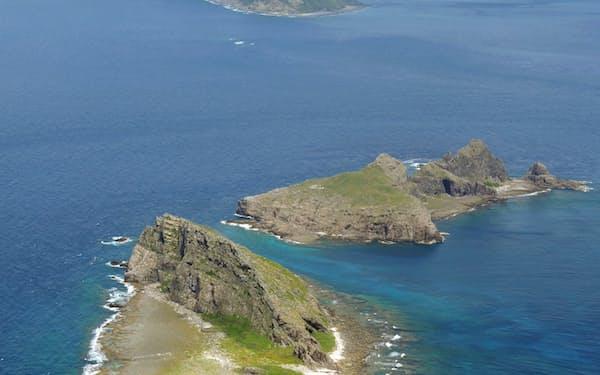 沖縄県の尖閣諸島(2011年6月)=共同
