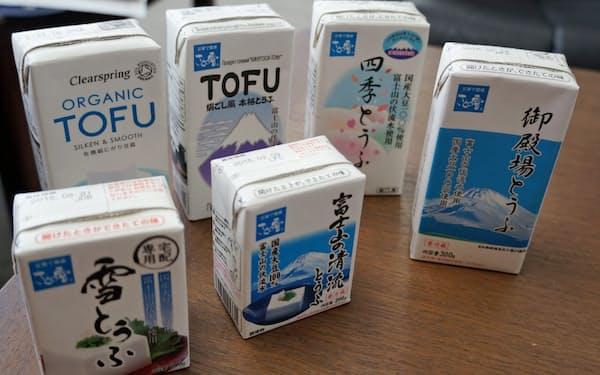 四国化工機の常温流通に対応した紙パック豆腐