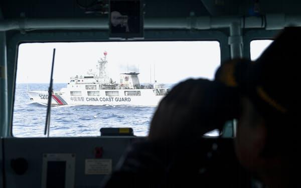 インドネシア領ナトゥナ諸島周辺の海域では中国公船が活発に活動する(2020年1月)=ロイター