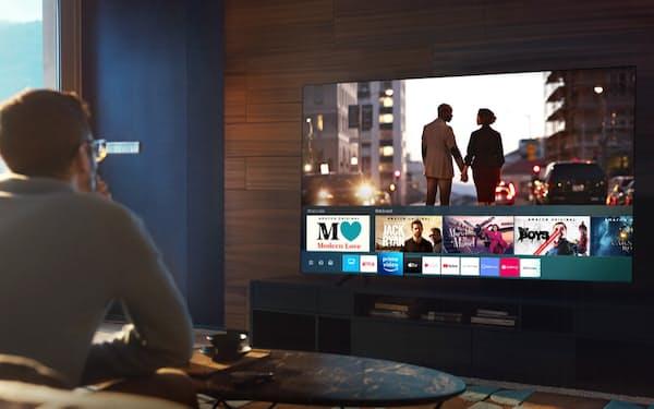 サムスンのテレビは「ネットフリックス」などに素早くアクセスできる=サムスン電子提供