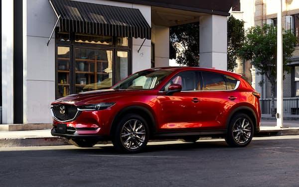 米国では多目的スポーツ車(SUV)「CX―5」の販売が伸びている