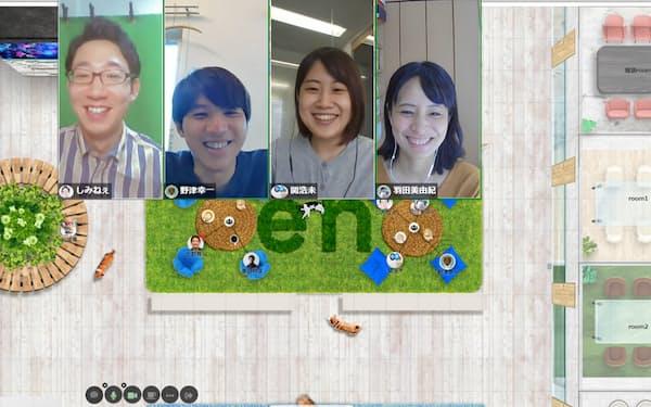 エン・ジャパンはオンライン会議ツールを活用し、話しやすい空気をつくっている