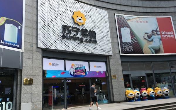 蘇寧の業績は急速に悪化している(上海市の家電量販店の店舗)