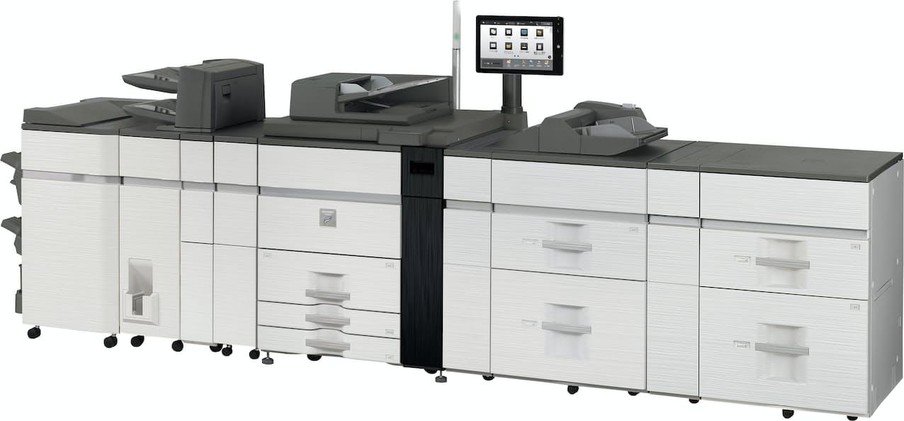 シャープは1分間で120枚用紙が出力できる複合機を発売する