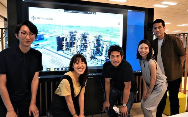 中国での投資を決めた次世代燃料事業室の主なメンバー (左から安さん、張さん、堀江さん、尾渡さん、高田さん)