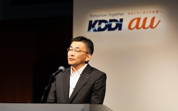 KDDIの高橋誠社長は30日の決算で「povoの加入者数は約100万」と明らかにした
