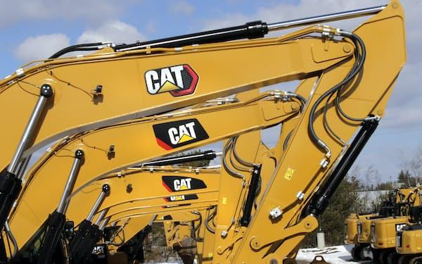 建設機械や鉱山機械の需要回復が続く=AP