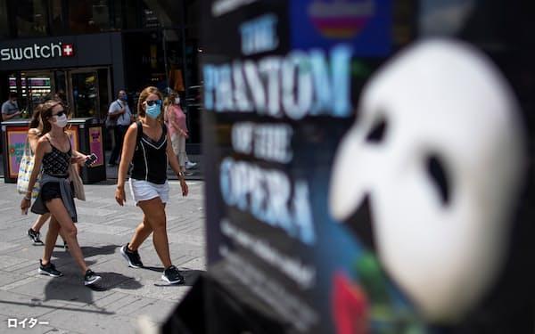 ブロードウェーの劇場の多くは9月に公演を再開する予定だ=ロイター