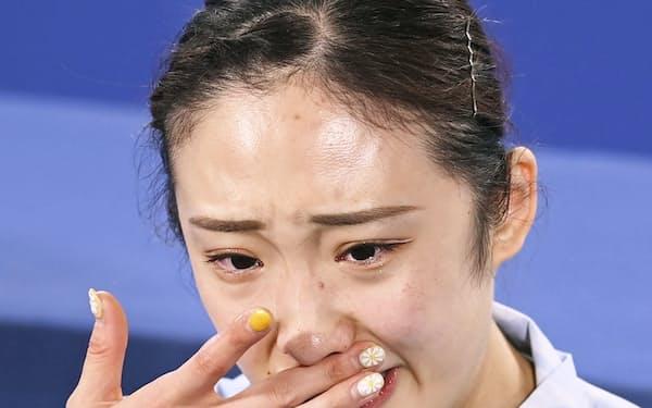トランポリン女子で予選敗退した森ひかるは試合後、苦しかった胸の内を明かした=共同