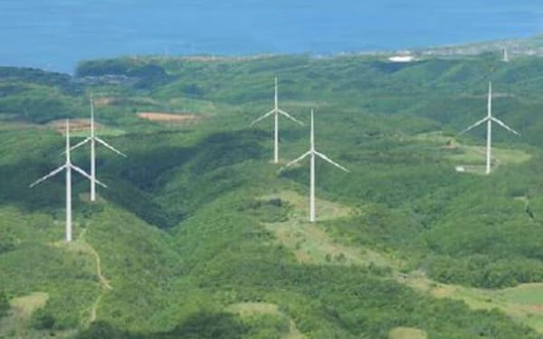 Jパワーが北海道江差町で建て替えを計画する風力発電所の完成イメージ