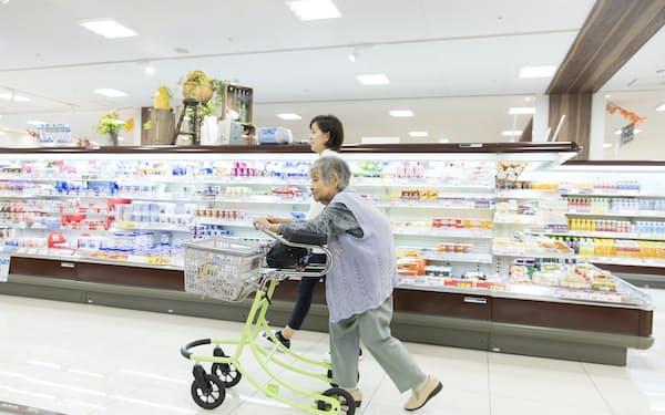 買い物を通して高齢者の認知症予防などにつなげる