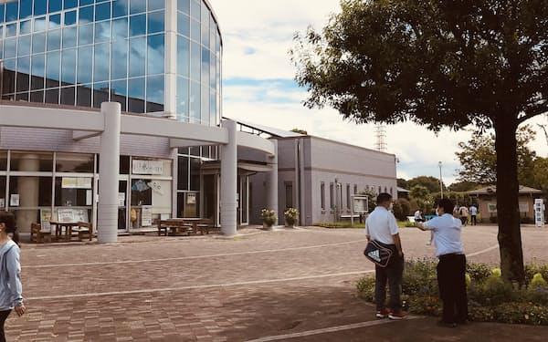 埼玉県が新たに新型コロナウイルスワクチンの集団接種会場を設けた県民健康福祉村(越谷市)