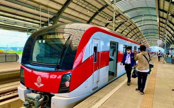 日本政府が建設を支援したタイの都市鉄道「レッドライン」=JICA提供