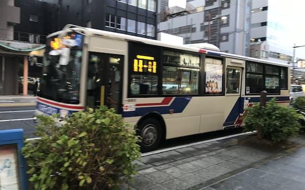 人口減にコロナ禍が重なりバス会社の経営環境は激変している(水戸市)