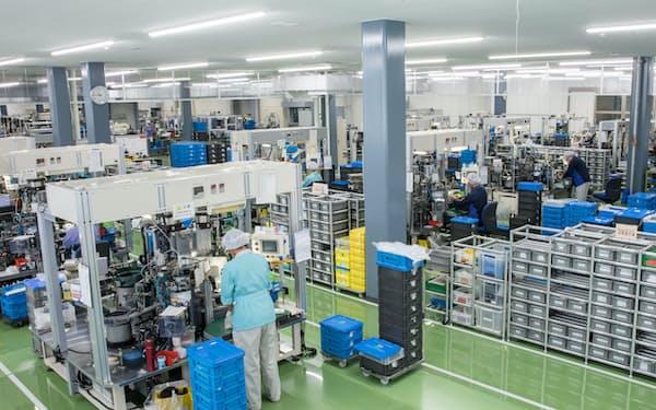 継ぎ手の生産ラインなどを増強する(長野県南箕輪村の伊那第二工場)