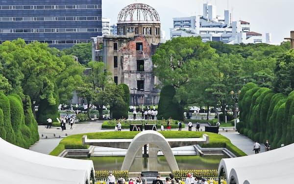 広島市の平和記念公園(2020年8月)