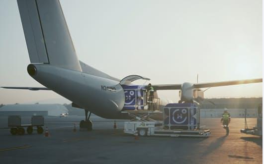 水素の燃料タンクを搭載した航空機(ユニバーサル・ハイドロジェン社のホームページから)