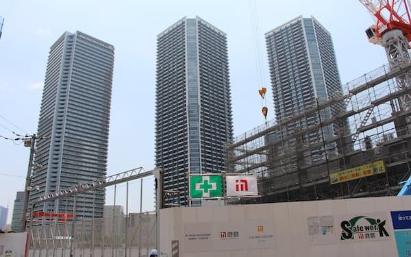 都心ではタワーマンションへの子育て世代の入居が出生率を押し上げた(東京都中央区)