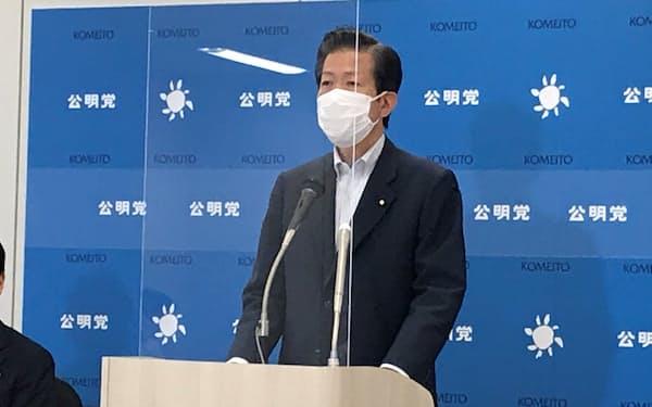 公明党の山口那津男代表(5月、国会内)