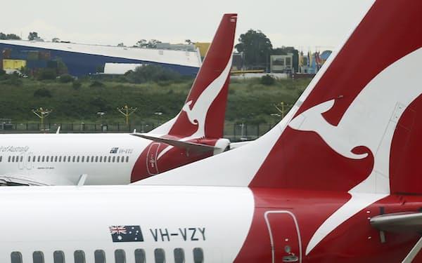 カンタス航空は2500人を自宅待機とする=AP