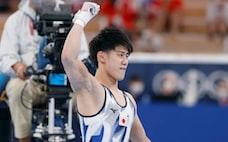 体操男子鉄棒で橋本が金 個人総合と2冠