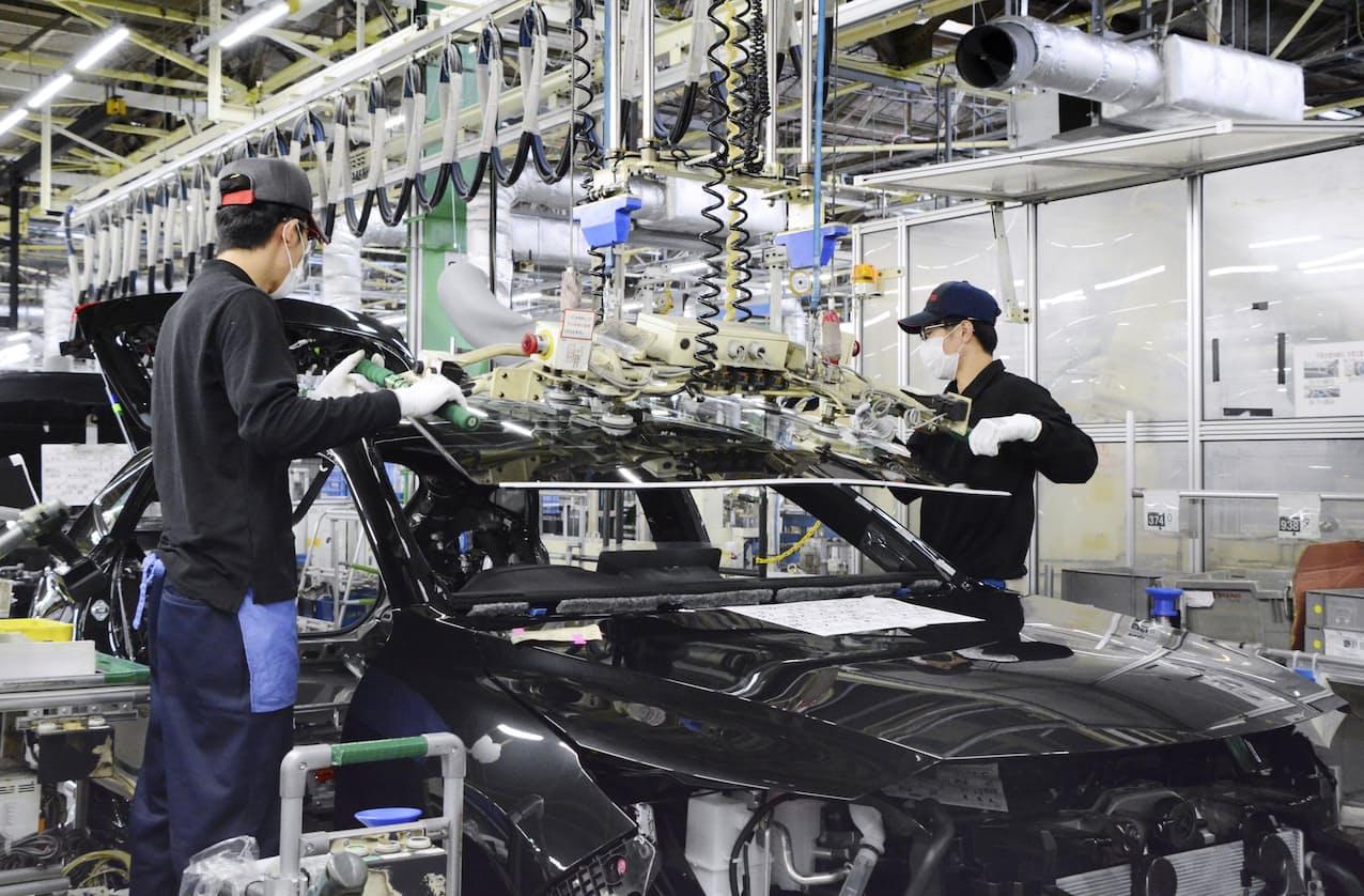 トヨタ自動車の愛知県内にある工場で生産される車