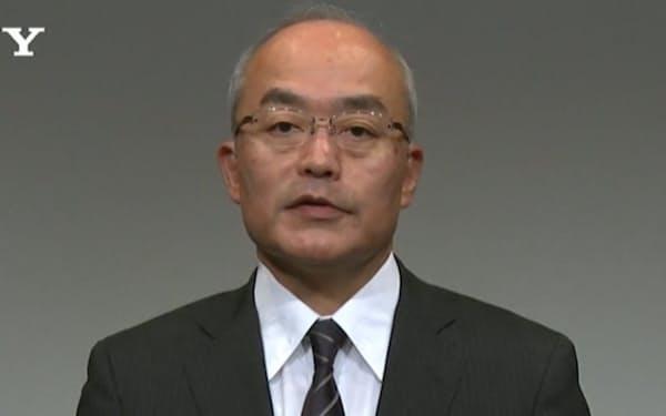 オンライン記者会見で説明するソニーグループの十時裕樹副社長(4日)