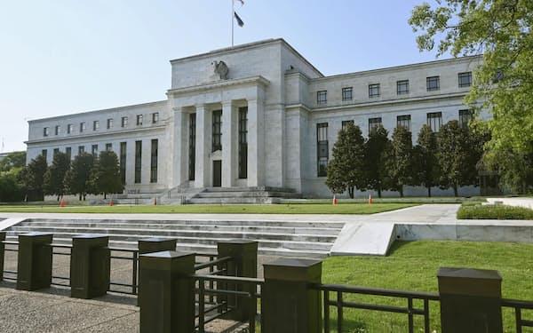 ワシントンにある米連邦準備理事会(FRB)=共同