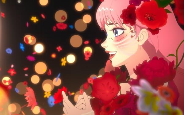 うつむきがちな少女が、仮想空間で歌姫になる(C)2021 スタジオ地図