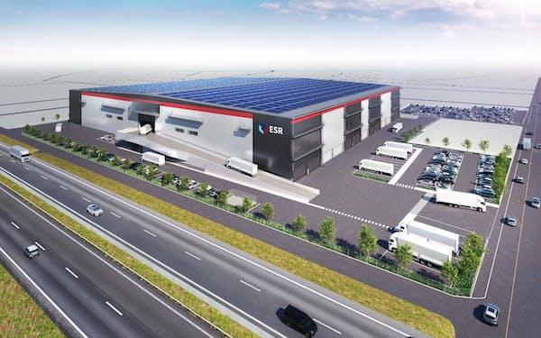 ESRが福岡県で建設予定の物流施設のイメージ
