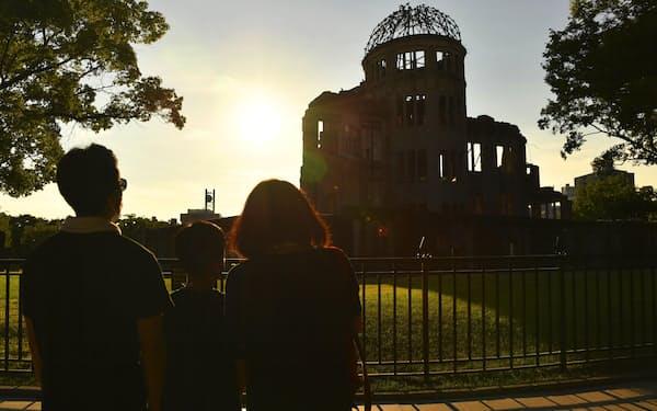 広島市の原爆ドーム(4日)=共同