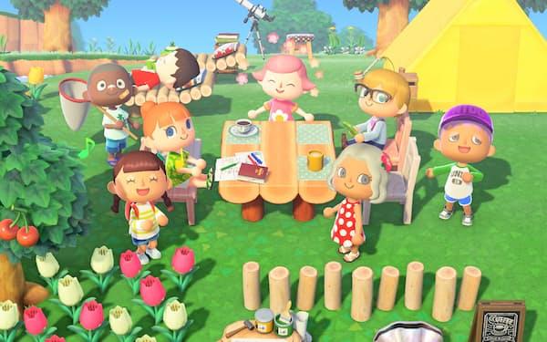 「あつ森」は島の中で他人と交流できる©2020 Nintendo