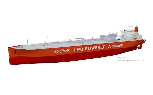 商船三井が発注したLPG・アンモニア運搬船のイメージ図