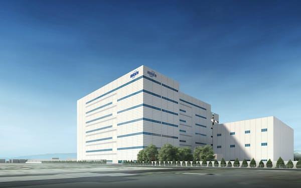 イビデンが岐阜県大垣市に新設する工場イメージ