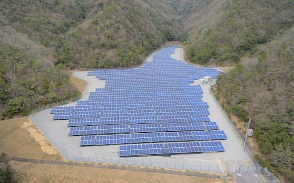 ウエストホールディングスが売買を手掛けた既設の太陽光発電所(岡山県備前市)
