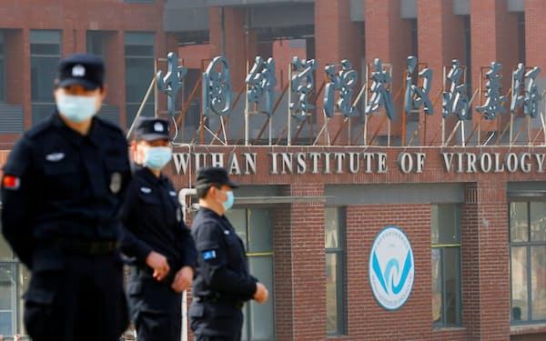 2月にWHOの調査団が訪問した武漢の研究所=ロイター